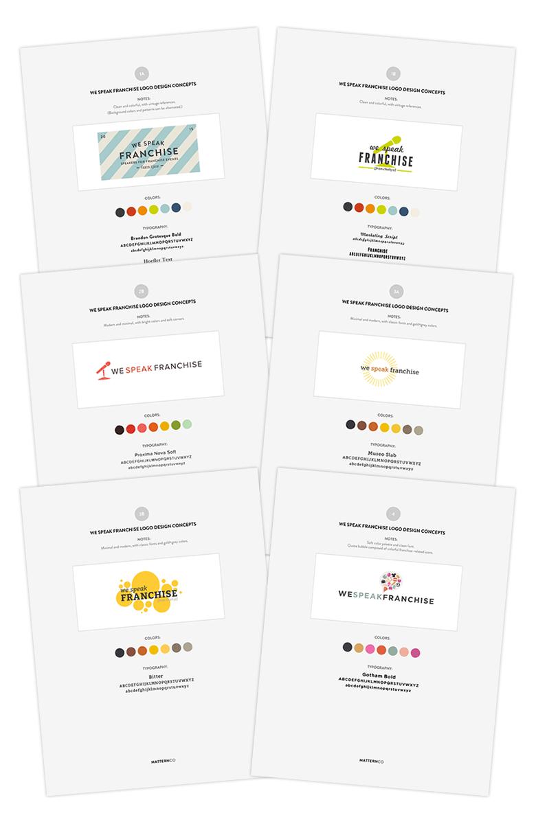 We Speak Franchise Logo Concepts Round 1