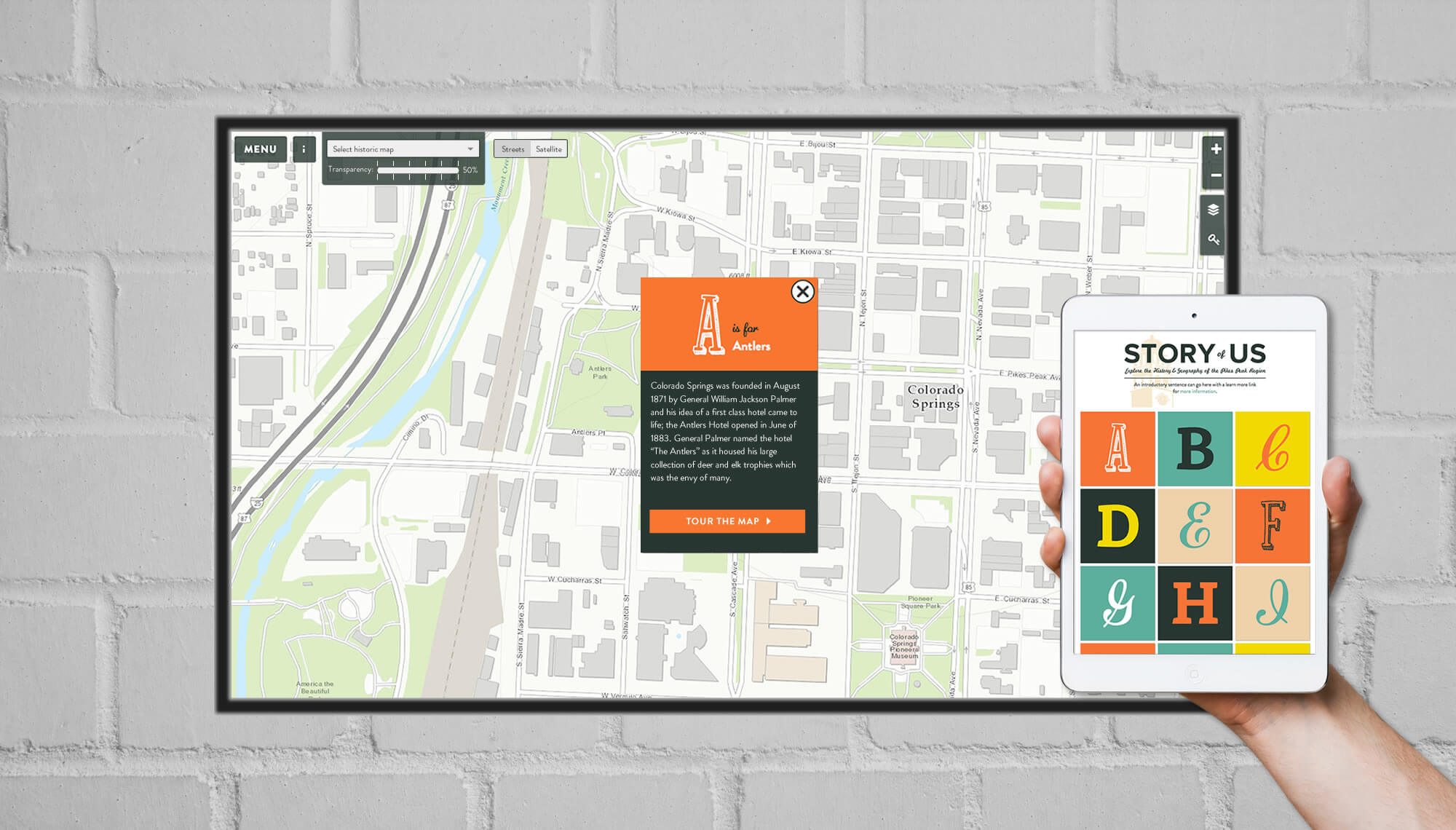 Story of Us Museum Interface by MatternCo