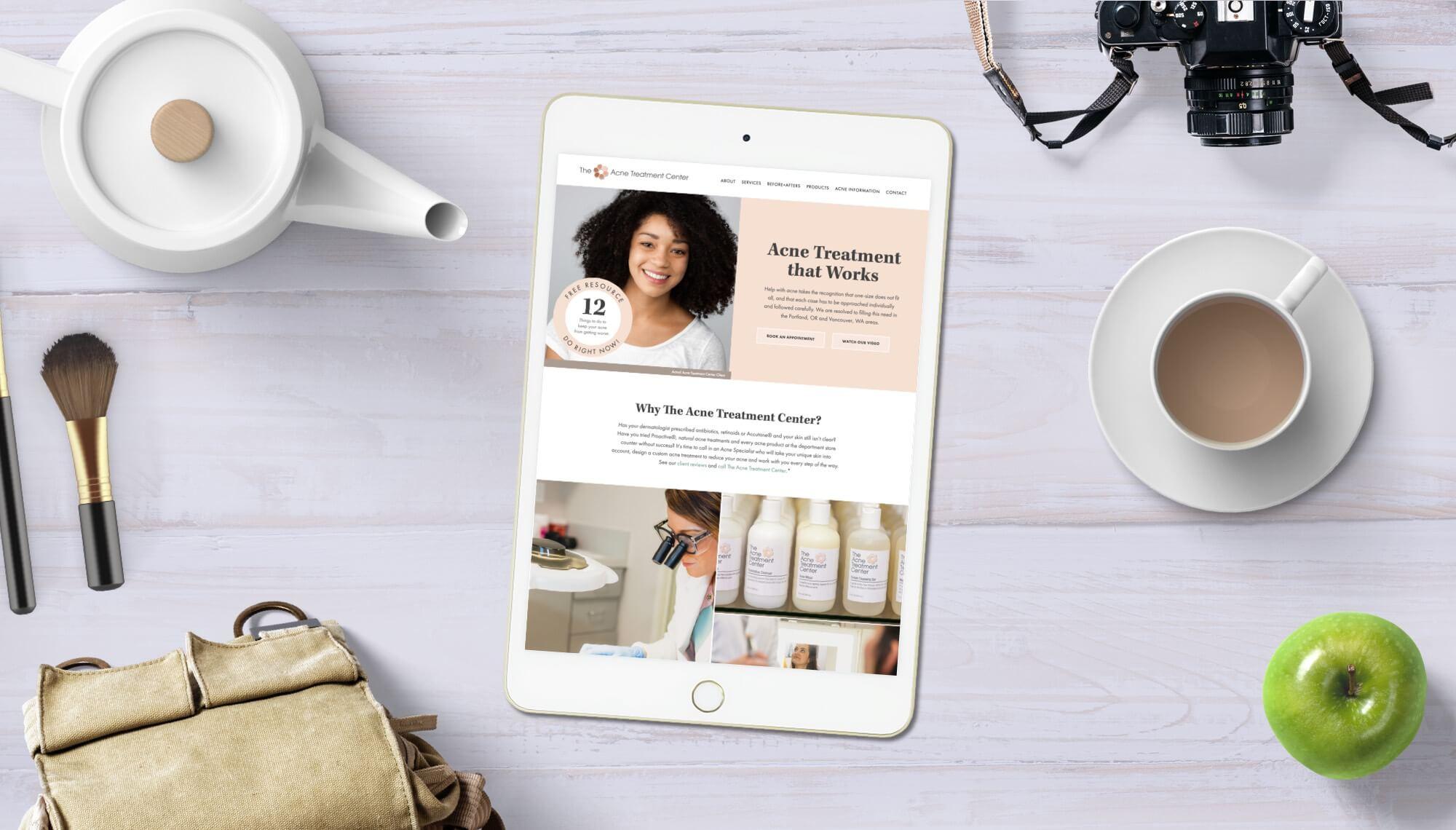 Acne Treatment Center Website Design