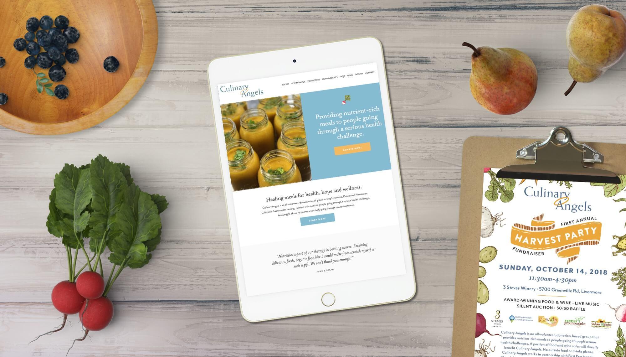 Culinary Angels Website Design + Development