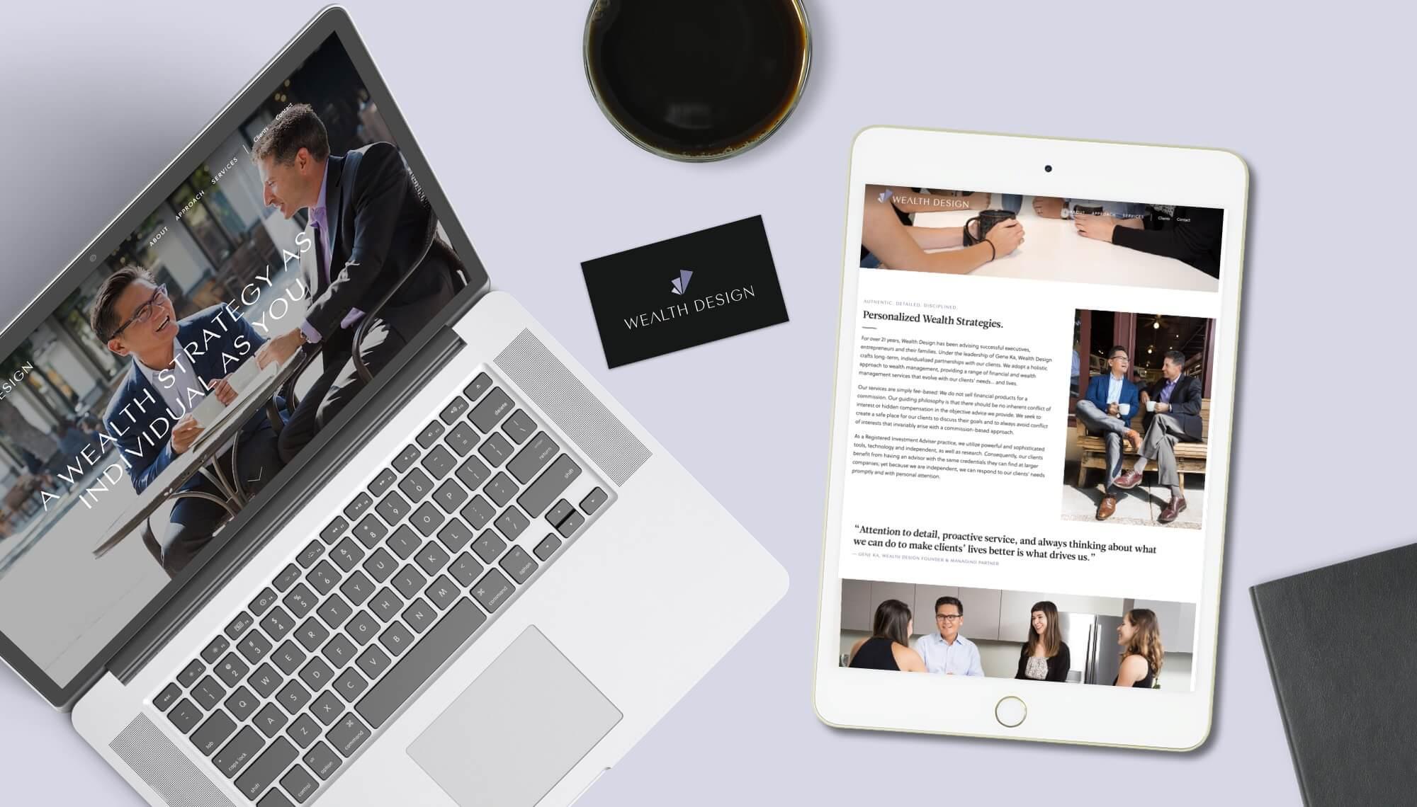 Wealth Design Logo and Website Design