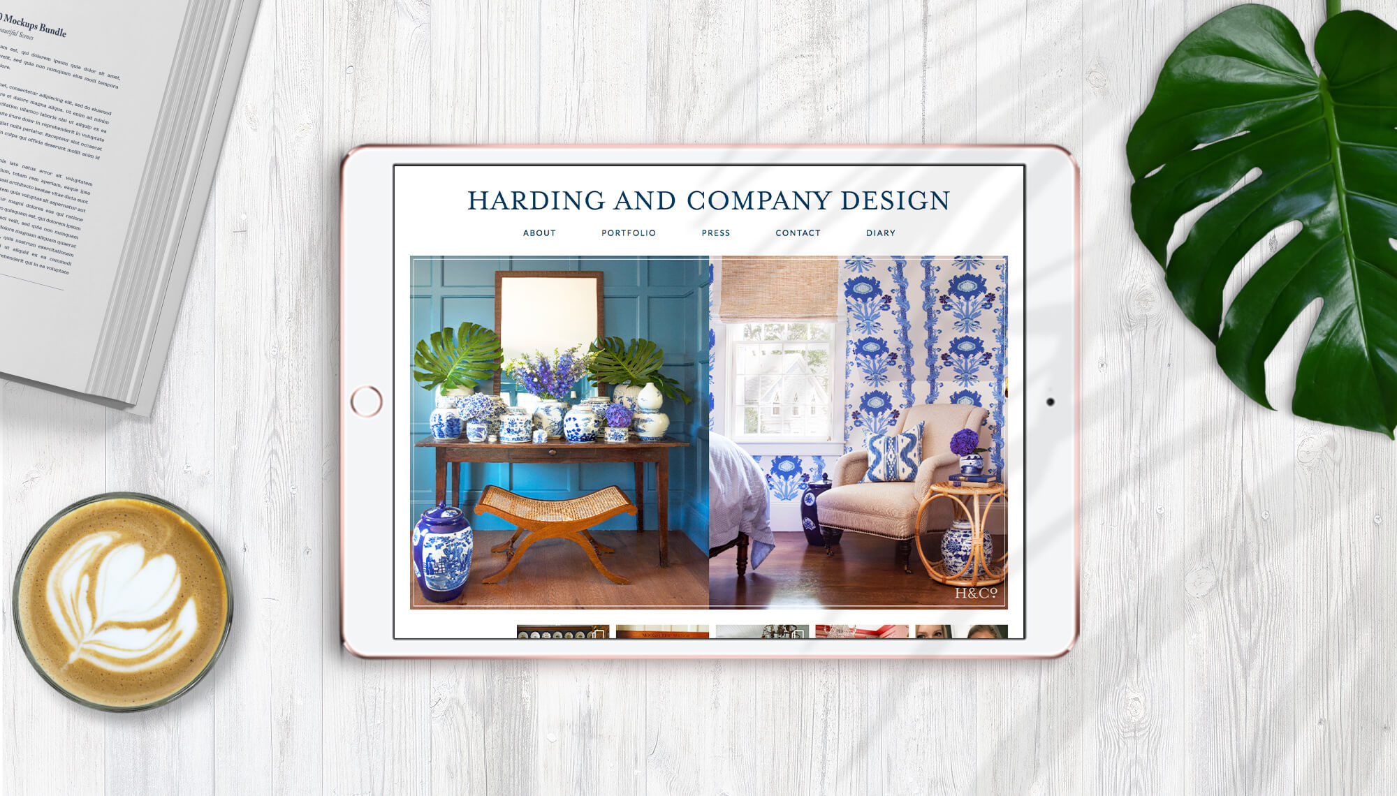 HARDING AND COMPANY DESIGN website design & development