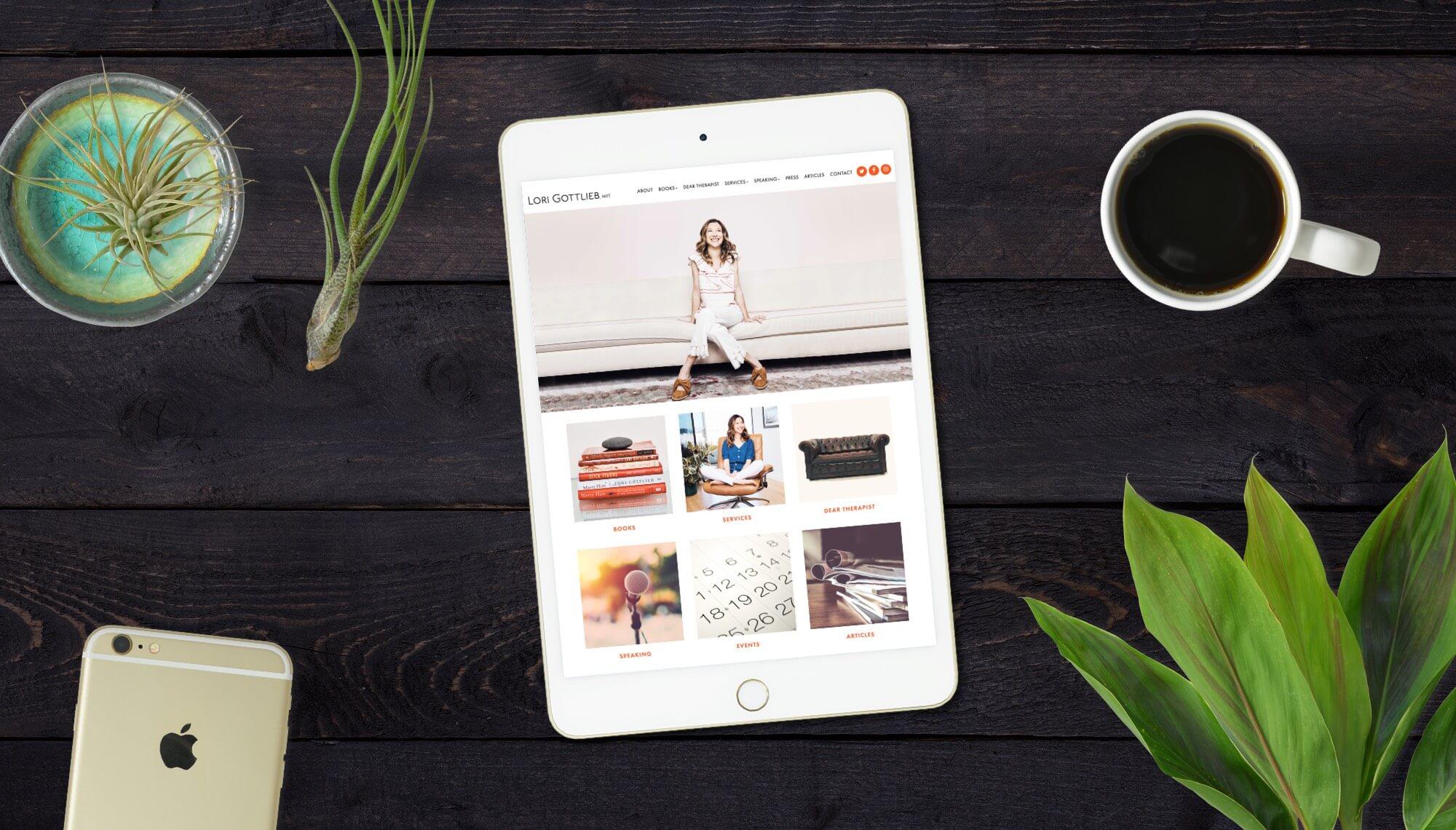 Lori Gottlieb Website Design & Development