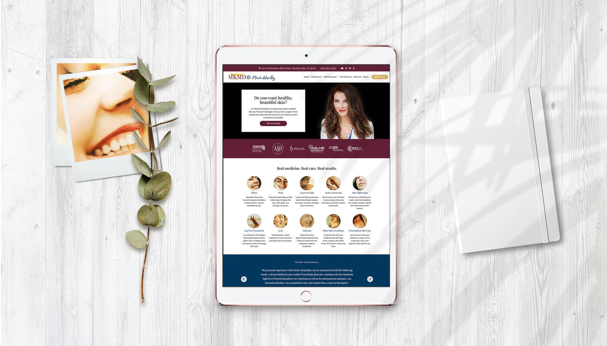 Dr. Monika Kiripolsky Website Design + Development