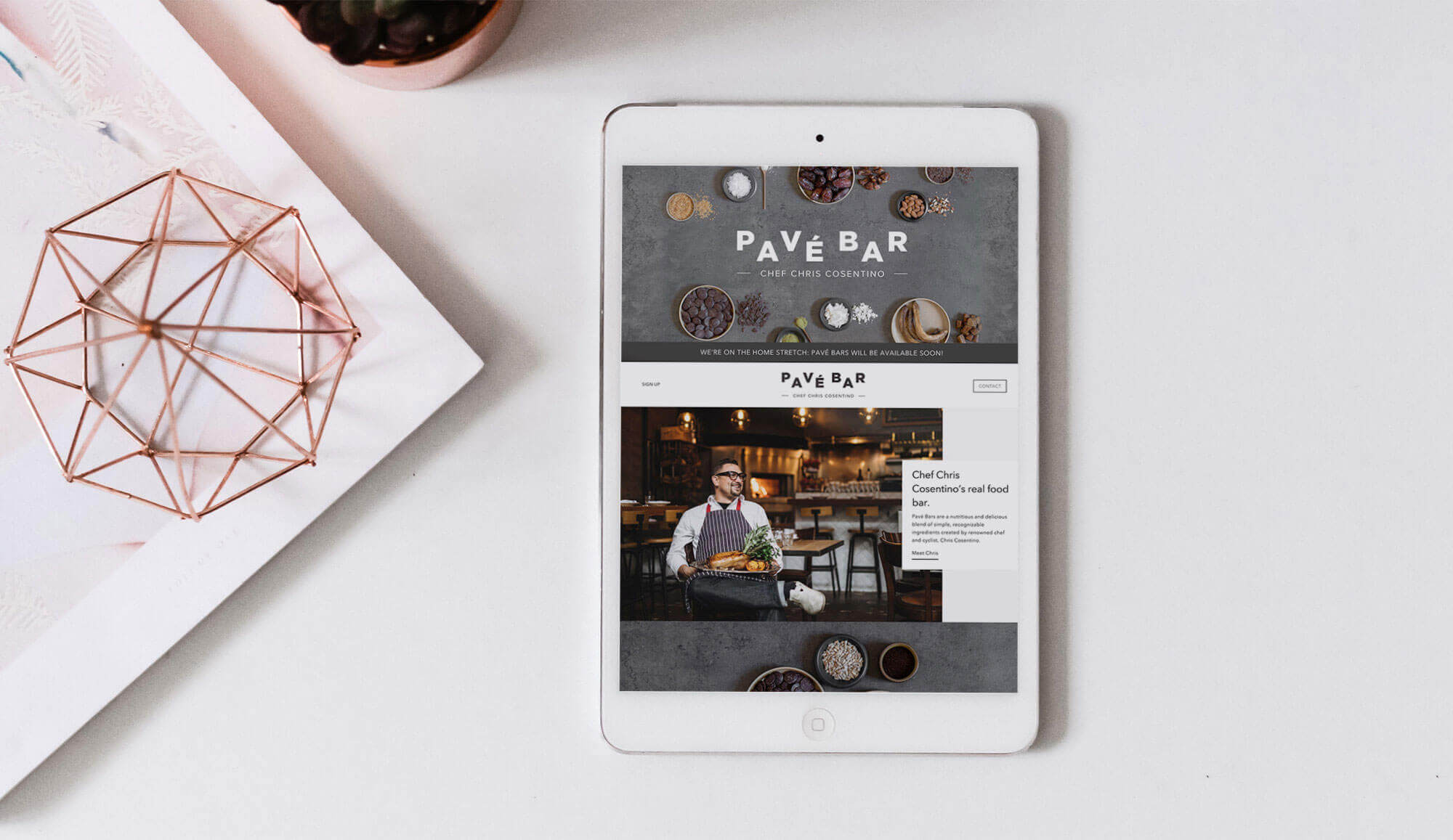 PAVÉ BAR website and shopify development