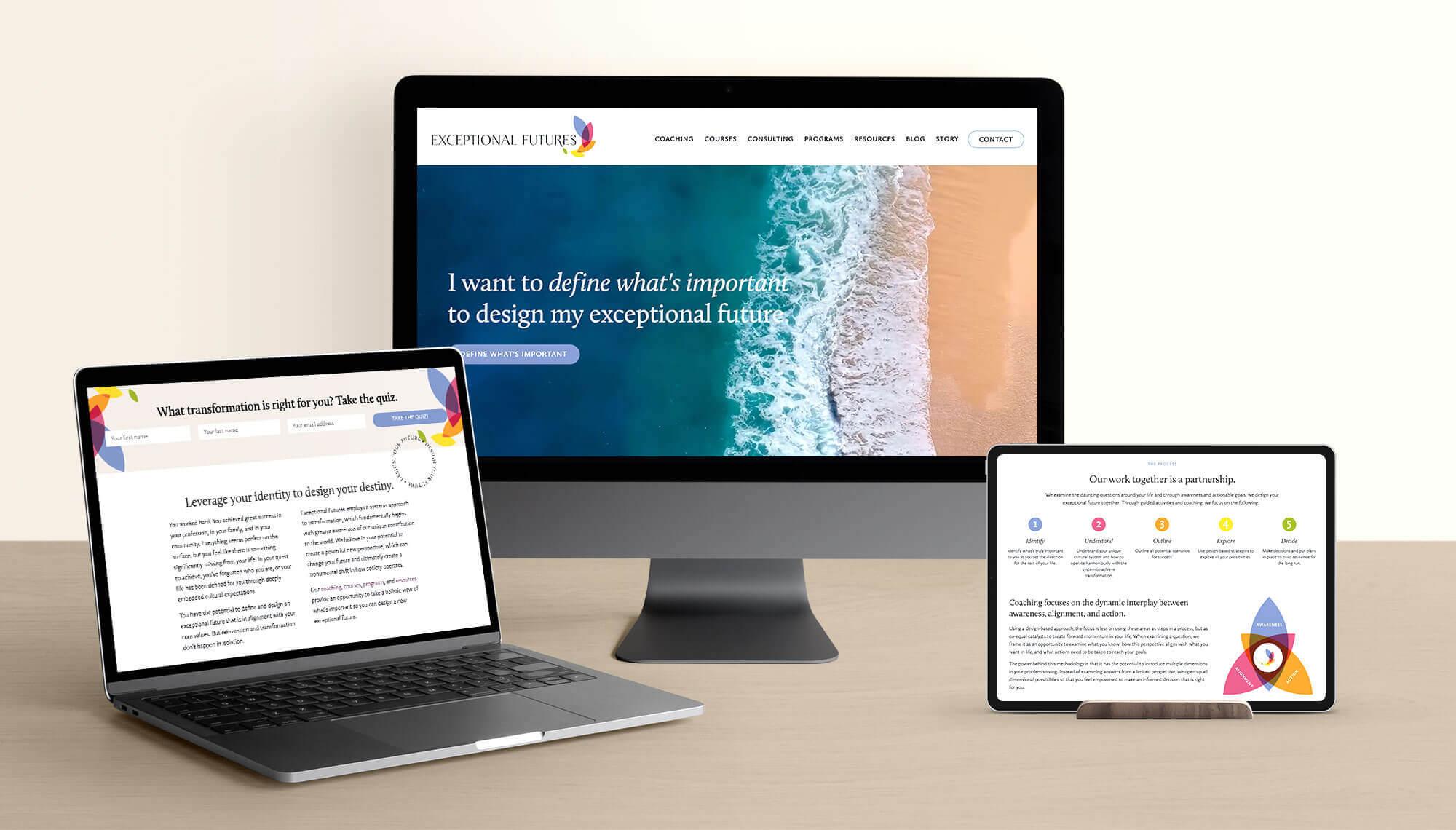 Exceptional Futures Website Design and Branding