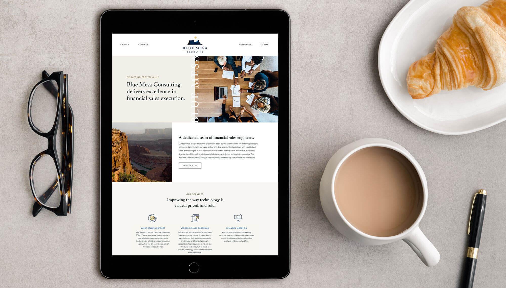 Blue Mesa Consulting Website Design and WordPress Development