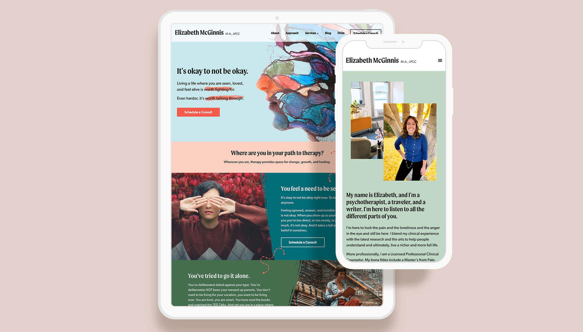 Elizabeth McGinnis Website Design and Development